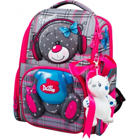 Ранец DeLune 11-026 + мешок + мишка + ленточка