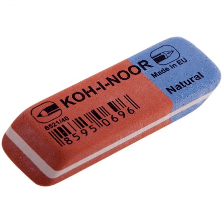 """Ластик Koh-I-Noor """"Blue Star"""" 40, скошенный, комбинированный, натуральный каучук, 57*19,5*8мм"""