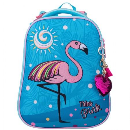 """Ранец Berlingo Expert """"Pink flamingo"""" 2 отделения, 1 карман, анатомическая спинка"""
